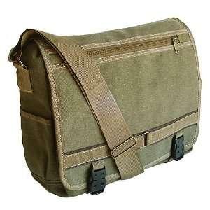 Military Inspired Canvas Messenger Bag Backpack Laptop Bag