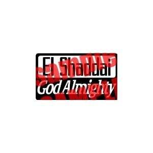 EL SHADDAI GOD ALMIGHTY 13 WHITE VINYL DECAL STICKER
