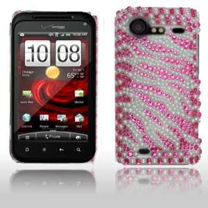 Htc Droid Incredible S 2 6350 Pink and White Zebra Design
