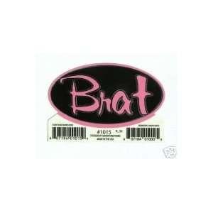 Black & Pink Brat   Sticker / Decal S 1015