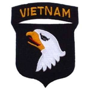 U.S. Army 101st Airborne Vietnam Patch Black & White 3