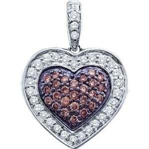 Gold .50CT Diamond Heart Pendant Featuring New Rich Chocolate Diamonds