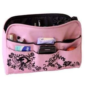 Oliepops Baby Pink Floral Handbag / Purse Organizer Insert