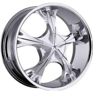Milanni Tempest 5x115 5x139.7 5x5.5 +18mm Chrome Wheels Rims Inch 17