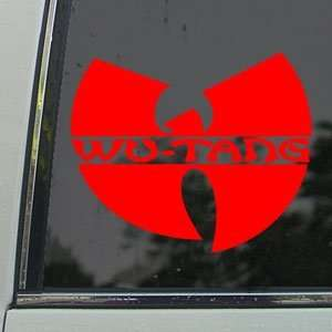 Wu Tang Clan Red Decal Rap Rock Band Truck Window Red