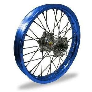 Pro Wheel Supermoto Rear Wheel Set   17x4.25   Blue Rim/Silver Hub 27