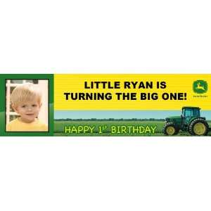 John Deere 1st Birthday Personalized Photo Banner Large 30