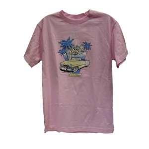 Steve & Barrys Vintage T Shirt Pink Las Vegas Cadillac