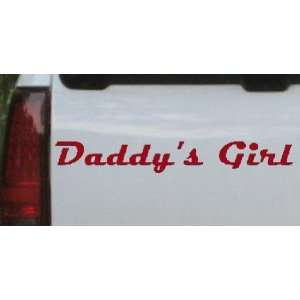 Red 16in X 2.4in    Daddys Girl Girlie Car Window Wall Laptop Decal