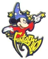 SORCERER MICKEY Mouse+STARS FANTASMIC DISNEYLAND 2002 Disney PIN