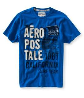 aeropostale mens aero 87 seaside graphic t shirt