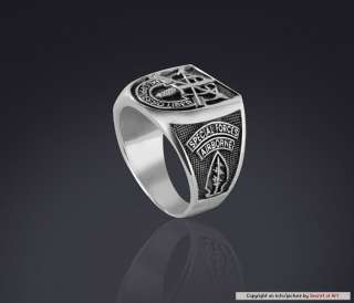SPECIAL FORCES AIRBORNE de oppresso liber SILVER RING