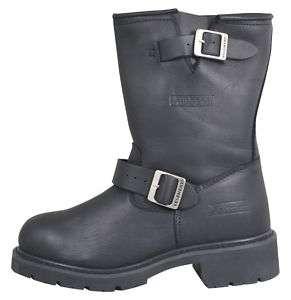 Black Motorcycle Short Engineer Boot sizes 8 through 13