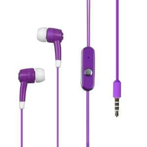 Light Purple High Quality Stereo Handsfree Headset Mic Earphone Plugs