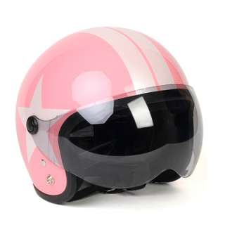 Motorcycle Vespa Scooter Jet Helmet Open Face PINK