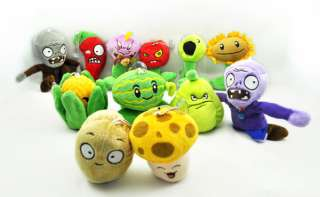 Plants VS Zombies Soft Plush Toy With Sucker A full set of 12