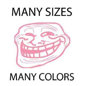 Light Pink   Troll Face Meme 4chan Custom Vinyl Decal