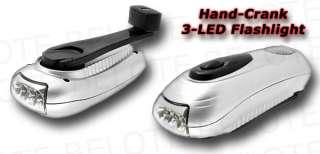 Dynamo Hand Crank 3 LED Flashlight NEVER NEED BATTERIES