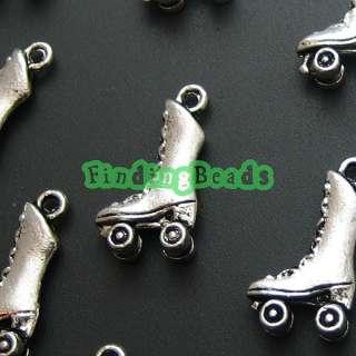 50  Tibetan Silver Roller skate Charms Pendants TS0498