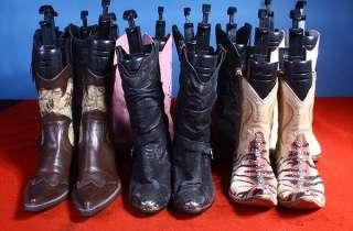 LOT 7 PR WOMENS WESTERN COWBOY BOOTS BOHO/MOD NR