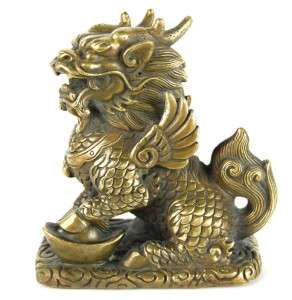 bronze qilin statue chinese unicorn kirin feng shui. Black Bedroom Furniture Sets. Home Design Ideas