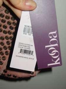 KOOBA leather crossbody clutch SAM pink RARE NEW $375