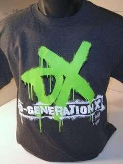 DX Logo D GENERATION X Grey WWE T shirt New