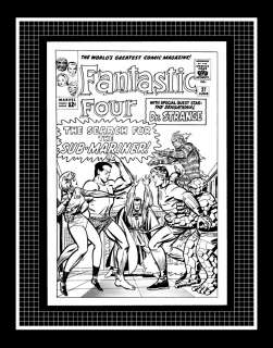 Jack Kirby Fantastic Four #27 Rare Production Art Cover