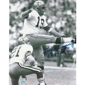Tom Dempsey Autographed Follow Through on 63 Yarder New
