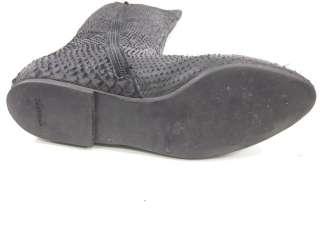 ZARA WOMAN Black Leather Texture Thigh Boots Sz 38 8