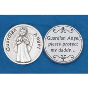 25 Guardian Angel Daddy Prayer Coins Jewelry