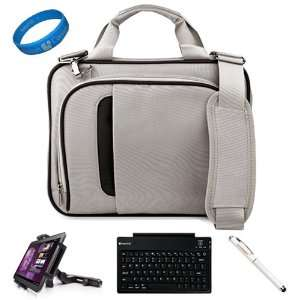 SumacLife Silver Black Messenger Bag with Handle and