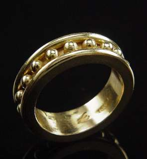 SEXY ESTATE ELIZABETH LOCKE 18K GRANULATION BAND RING