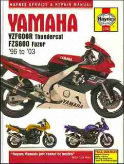 service manual for yamaha yzf600r thundercat fzs600 fazer 1996 2003