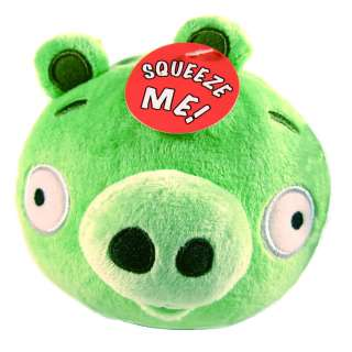 Angry Birds 5 GREEN PIG PIGLET Plush Soft Toy Doll w/ Sound *LICENSED