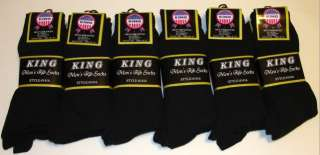 12 Pairs Mens 1416 KING Premium COTTON Ribbed Dress Socks 10 13 All