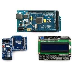 Arduino Mega1280 + SainSmart LCD Keypad Shield + SainSmart XBee Shield