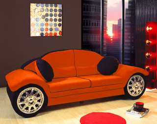 Red black race car sofa children furniture microfiber new for youth