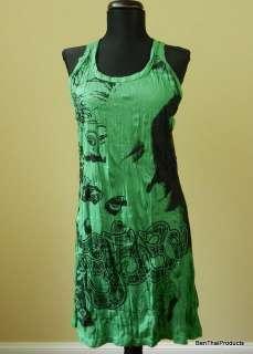New Buddha Face Lady Shirt Tunic Tank TOP Mini Dress Yoga Casual S M