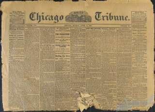 Chicago Tribune April 15 1861 Fort Sumter Civil War