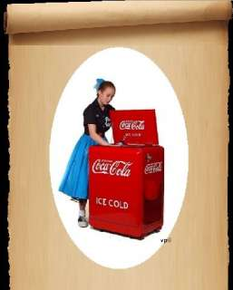 NEW Retro 1930s Style Coca Cola Refrigerator Fridge Coke Machine Ice