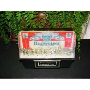 Vintage Budweiser Beer Lighted Bar Sign Clydesdales