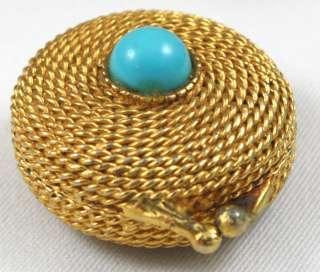 Vintage 1970s Gold Toned Estee Lauder Perfume Locket