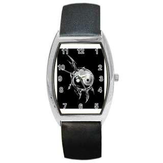 Ying Yang Black White Barrel Style Metal Watch Fashion