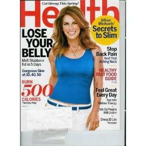 Health March 2012 Jillian Michaels Secrets to Slim \ Burn