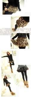 Cute Fashion Sexy Leopard Dot Tutu Under Shorts Mini Skirt Dress A838