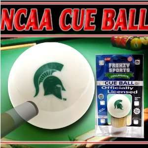 Michigan State University Spartans Cue Ball   ly Licensed