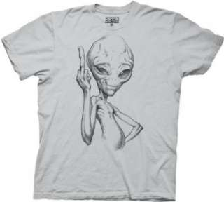 Paul Alien Flip Off Mens T shirt: Clothing