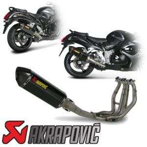 08 12 Hayabusa Akrapovic Racing FULL Exhaust System HEX 2008 2009 2010
