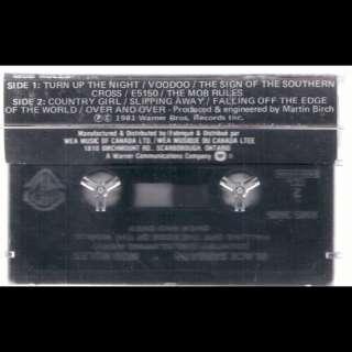 Black Sabbath Mob Rules Cassette VG++ Canada WB XM5 3605
